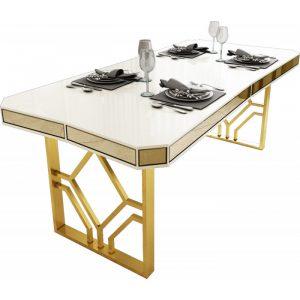table-de-salle-a-manger-design-en-bois-mdf-laque-beige-avec-miroir-bronze-sur-le-contour-et-un-pietement-en-acier-dore-l-195-x-p-91-5-x-h-76-5-cm-collection-lexus-31